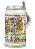 Collector Stein of the Oktoberfest Hosts 2016 - Collectors edition with engraved tin lid