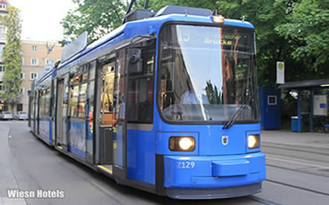 The way to Theresienwiese - Take the Public transport - Tram to the Oktoberfest Munich