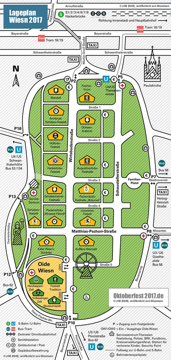 Oktoberfest Map 2017 - Ground Plan from the city of Munich (RAW)