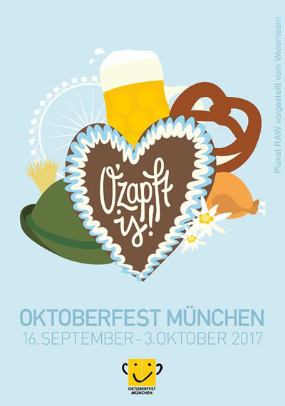 New Oktoberfest Poster 2017 - The Official Festivalposter 2017 - Design of the Munich Beerfestival (RAW)